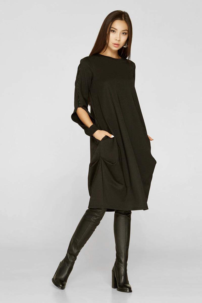 Удалено 2219 платье Сеул, черный (42)