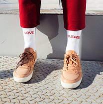 """Носки с надписью """"LOVE PLEASE"""" Хлопок, Длинные, Мужские\Женские, Шкарпетки з написом , фото 2"""
