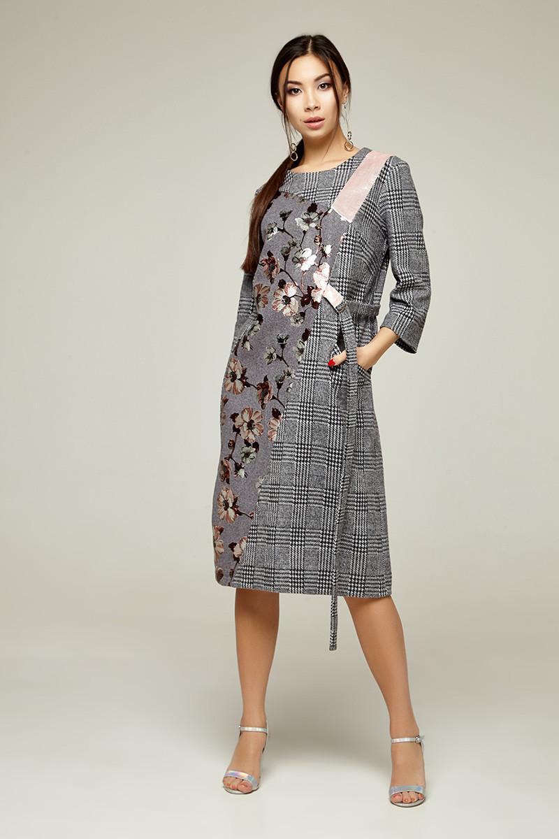 2271 Платье Ромари, серый (S)