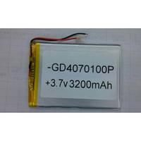 Литий-полимерный аккумулятор GP0470100P (3200mAh) 4*100*70mm