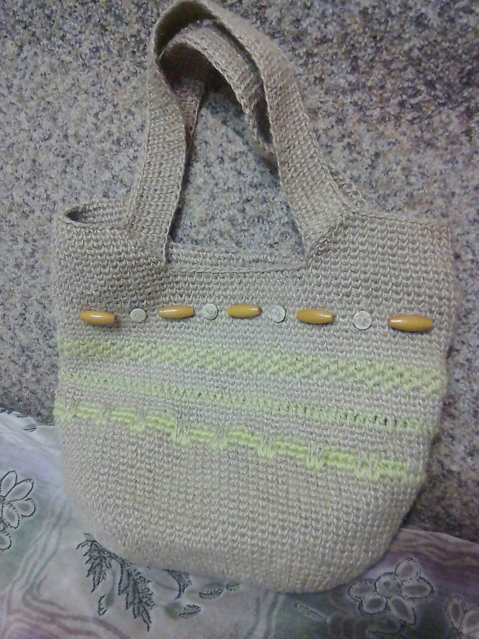 Женская сумка ручной работы из джута