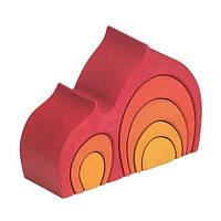 Nic Конструктор дерев'яний Будинок Габлі червоний NIC523020 (NIC523020)