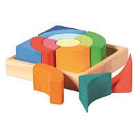 Nic Конструктор дерев'яний різнокольоровий коло NIC523344 (NIC523344)