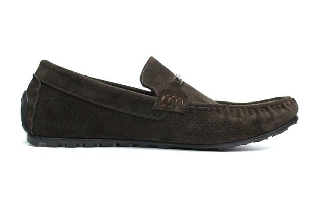Летние мокасины замшевые коричневые с перфорацией мужская обувь Rosso Avangard ETHEREAL Cross Wood
