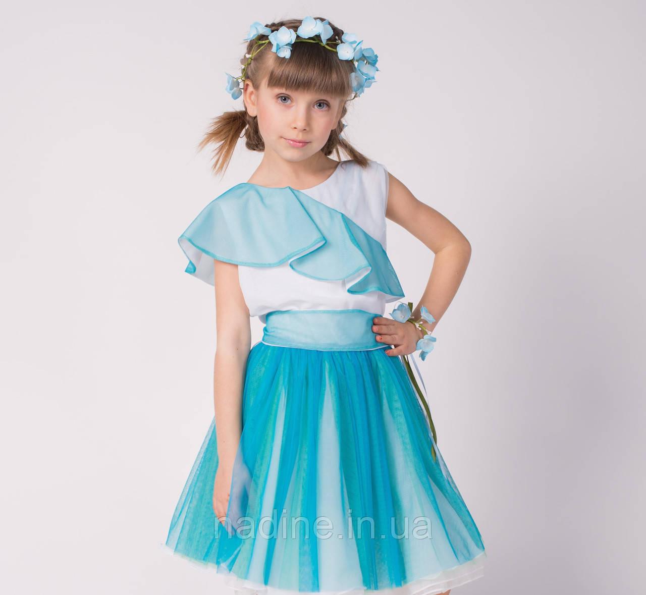 Дизайнерское  Платье Tender Hydrangea Eirena Nadine (129-52) на девочку рост 152