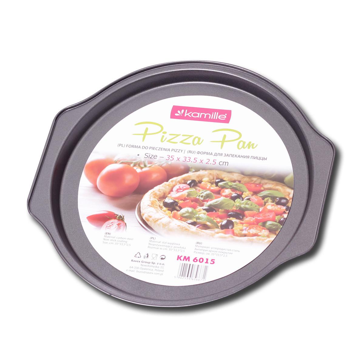 Форма для запекания пиццы Kamille 35*33.5*2.5см