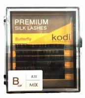 Ресницы зеленые изгиб B 0.15 (6 рядов: 12 мм), упаковка Butterfly (NEW)