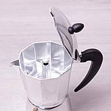 Кофеварка гейзерная Kamille 300мл из алюминия, фото 4