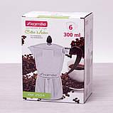 Кофеварка гейзерная Kamille 300мл из алюминия, фото 9