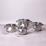 Набір посуду Kamille з нержавіючої сталі 8 предметів, фото 2