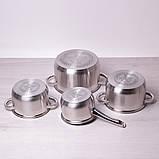 Набір посуду Kamille з нержавіючої сталі 8 предметів, фото 4