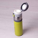 Термос-бутылка Kamille 400мл из нержавеющей стали, фото 8