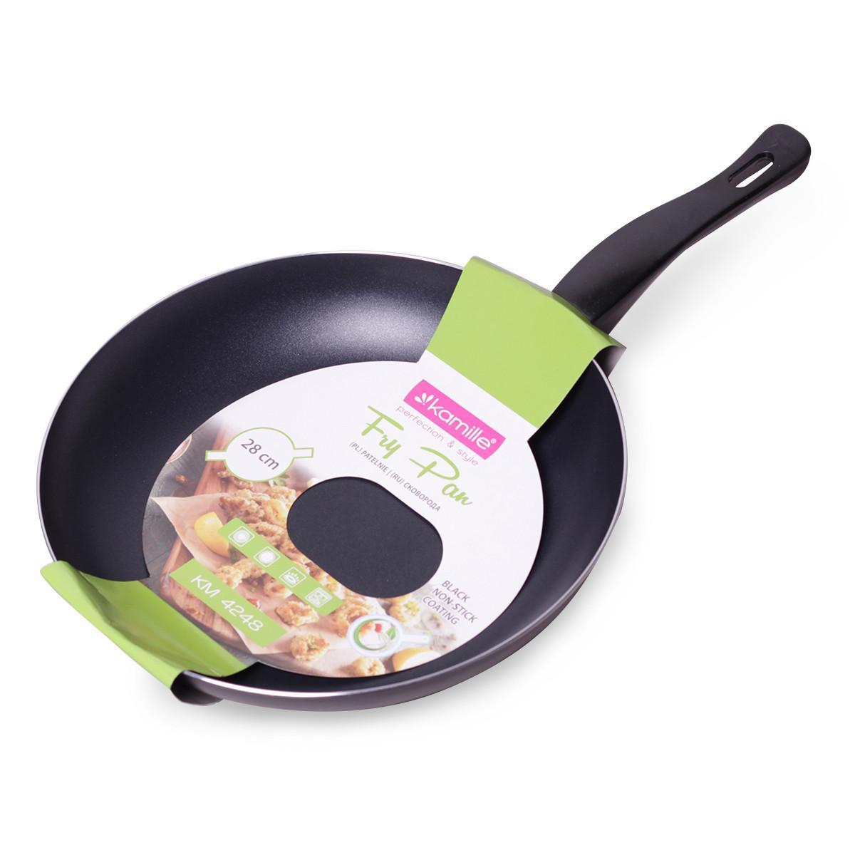 Сковорода Kamille  Ø28*4.5см с антипригарным покрытием без крышки