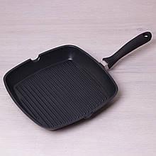 Сковорода-гриль Kamille 28*28*4см с антипригарным покрытием без крышки