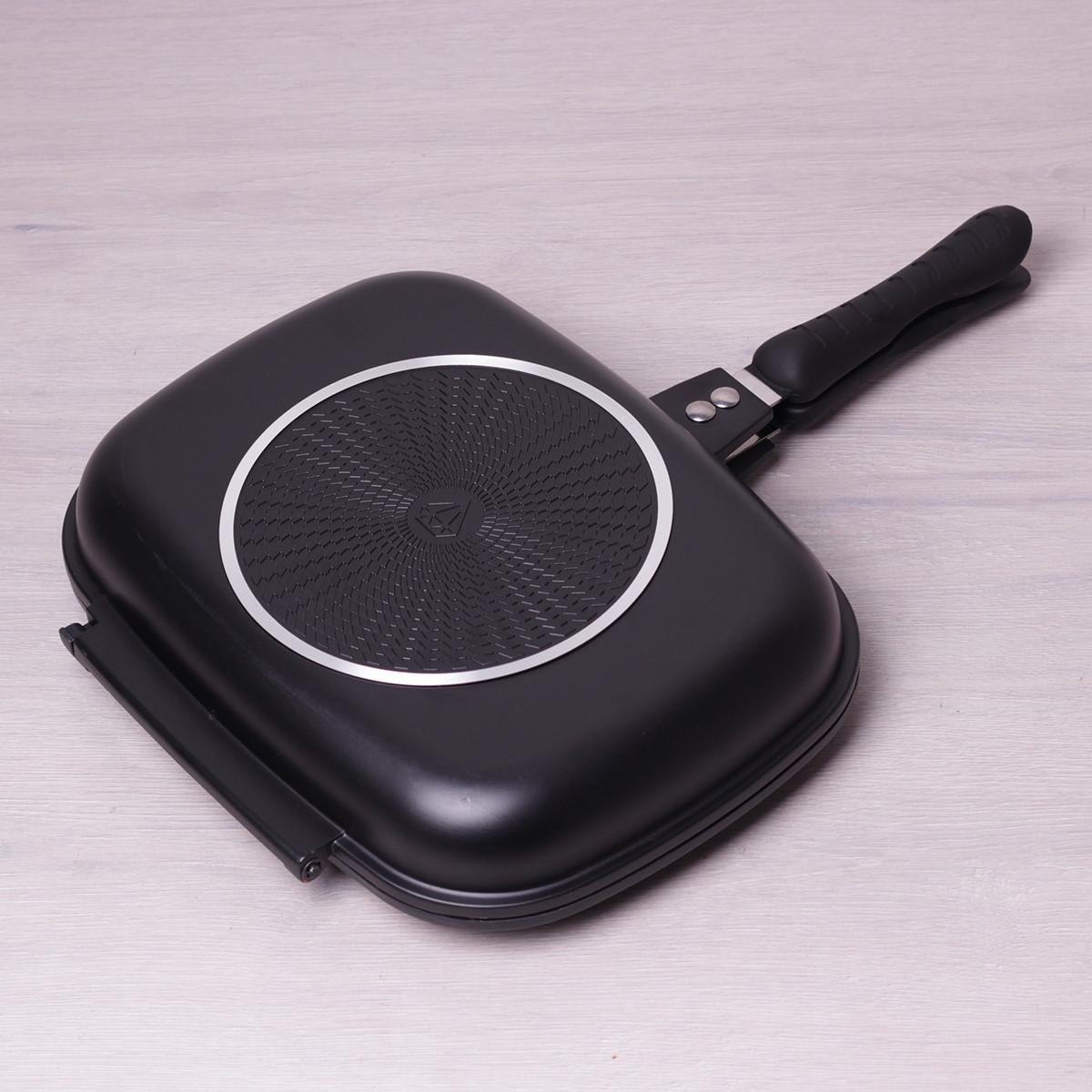 Сковорода-гриль Kamille 32*24*7см двухсторонняя с антипригарным покрытием