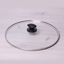 Крышка стеклянная Kamille Ø32см с металлическим ободком