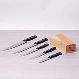 Набор ножей Kamille 6 предметов из нержавеющей стали с бакелитовыми ручками, фото 4