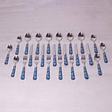 Набор столовых приборов Kamille 24 пр. из нержавеющей стали с пластиковыми ручками, фото 3