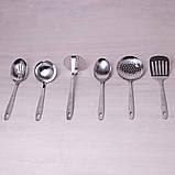 Набор кухонных принадлежностей Kamille 6 предметов в комплекте с подставкой, фото 3