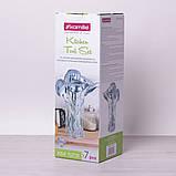Набор кухонных принадлежностей Kamille 6 предметов в комплекте с подставкой, фото 8