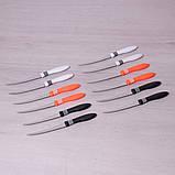Набор ножей Kamille 12шт из нержавеющей стали с пластиковыми ручками, фото 2