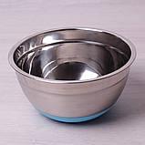 Миска Kamille Ø20*10см из нержавеющей стали с силиконовым дном, фото 2