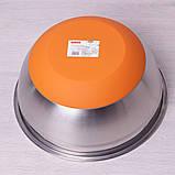 Миска Kamille Ø24*11см из нержавеющей стали с силиконовым дном, фото 2