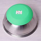 Миска Kamille Ø28*13см из нержавеющей стали с силиконовым дном, фото 3