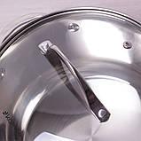 Кастрюля Kamille 3.3л из нержавеющей стали с крышкой и 7-слойным дном, фото 5