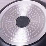"""Сковорода Kamille 24см из литого алюминия с антипригарным покрытием """"гранит"""" и ручкой """"под дерево"""", фото 6"""