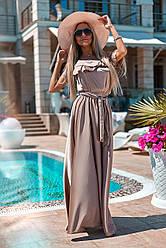 Платье  в пол рюши в расцветках  321179