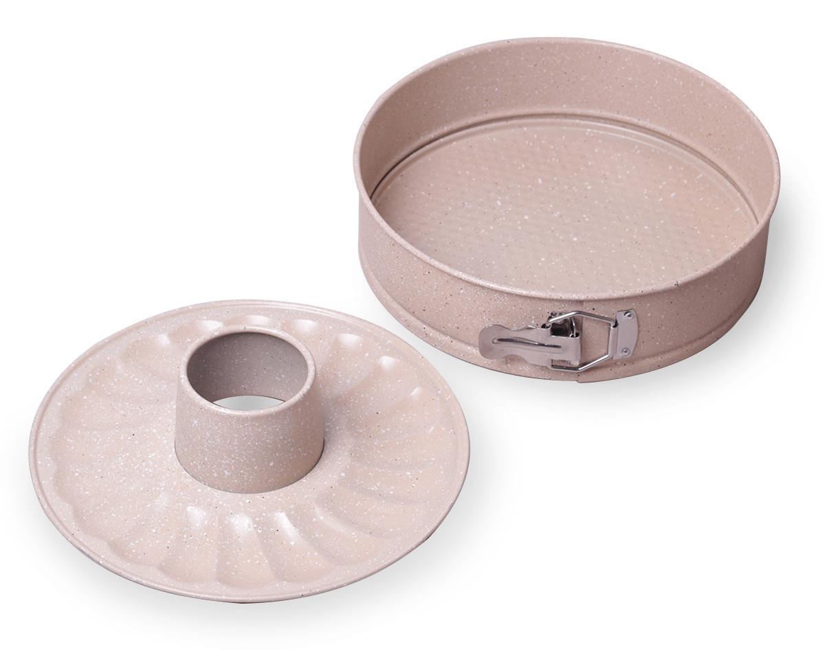 """Разъемная форма Kamille Ø26*7см со сменным дном для кекса и антипригарным покрытием """"мрамор"""""""