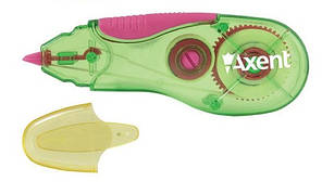 Коректор стрічковий Axent 5ммХ5м зелено-рожевий 7006-02-A
