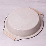 """Форма для запекания Kamille 37*34*6см с антипригарным покрытием """"мрамор"""" и силиконовыми ручками, фото 6"""