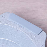 """Форма для запекания Kamille 37*34*6см с антипригарным покрытием """"мрамор"""" и силиконовыми ручками, фото 9"""