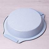 """Форма для запекания Kamille 37*34*6см с антипригарным покрытием """"мрамор"""" и силиконовыми ручками, фото 10"""