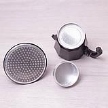 Кофеварка гейзерная Kamille 150мл из алюминия с широким индукционным дном, фото 5