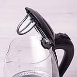 Чайник электрический Kamille 1.7л с синей LED подсветкой, фото 7