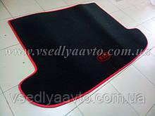 Ворсовый коврик в багажник Kia Sportage IV с 2016 г.  (Черный)