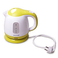Чайник электрический Kamille 1л электрический пластиковый (белый c салатовым)