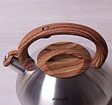Чайник Kamille 3л из нержавеющей стали со свистком, фото 5