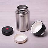 Термос пищевой Kamille 1000мл из нержавеющей стали, фото 3