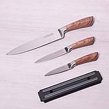 Набор кухонных ножей Kamille 4 предмета в подарочной упаковке (3 ножа+магнитный держатель), фото 4