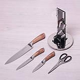 Набор кухонных ножей и ножницы Kamille 5 предметов на акриловой подставке, фото 3