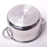 Набор посуды Kamille (кастрюля + дуршлаг) из нержавеющей стали 3 предмета, фото 4