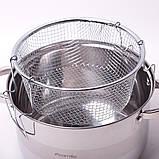 Набор посуды Kamille (кастрюля + дуршлаг) из нержавеющей стали 3 предмета, фото 5
