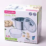 Набор посуды Kamille (кастрюля + дуршлаг) из нержавеющей стали 3 предмета, фото 7