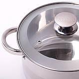 Набор посуды Kamille (кастрюля + дуршлаг) из нержавеющей стали 3 предмета, фото 8