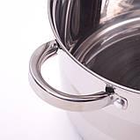 Набор посуды Kamille (кастрюля + дуршлаг) из нержавеющей стали 3 предмета, фото 9