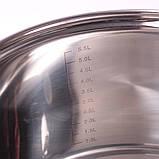 Набор посуды Kamille (кастрюля + дуршлаг) из нержавеющей стали 3 предмета, фото 10